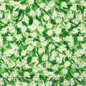 Daisy Blue - Flowering Field Spring Yardage