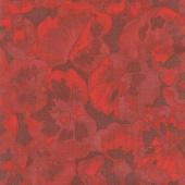 Chloe - Tonal Leaves Red Yardage