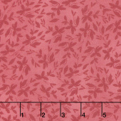 Farmhouse Rose - Leaves Red Yardage