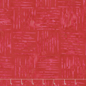 Cherry Sweet Batiks - Crosshatch Red Yardage