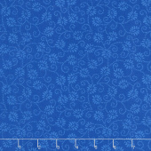 Wilmington Essentials - Blue Ribbon Dancing Buds Medium Dark Blue Yardage
