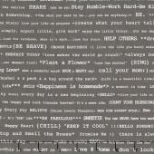 Bee Basics - Happy Text Gray Yardage