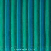 Kaffe Wovens - Multi Stripe Deep Sea Yardage