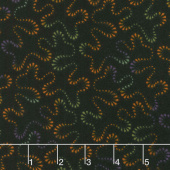 Happy Jacks & Friends - Stippling Black Flannel Yardage