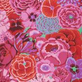 Kaffe Fassett Collective - Stash Scarlet Florals Bekah Magenta Yardage