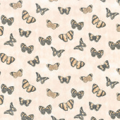Harlequin Poppies - Butterflies Cream Yardage