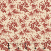 Harriet's Handwork 1820-1840 - Spindle & Bobbin Biscuit Red Yardage