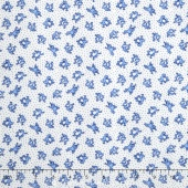 Storybook Flannel - Leaping Frogs Blue Yardage