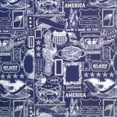 Lost and Found America - Americana Main Navy Yardage