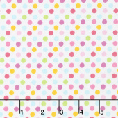Fairy Garden - Garden Dot White Yardage