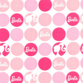 Barbie - Polka Dots Pink Yardage