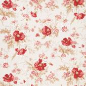 Sweet Sixteen - Main Floral Cream Yardage
