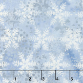 Icicle Batiks - Snowflake French Blue Yardage