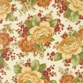 Rustic Winds - Large Floral Cream Yardage
