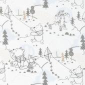 Winnie the Pooh - Cloud and Kites White Yardage