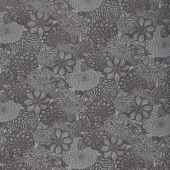 "Wilmington Essentials - Floral Toile Black 108"" Wide Backing"