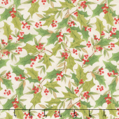 Cardinal Noel - Holly Toss Cream Yardage