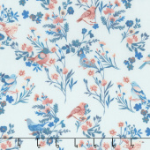 Birdsong - Bird on a Limb Aqua Yardage