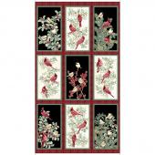 Winter Elegance - Birds Multi Metallic Panel