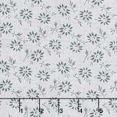 Blackwood Cottage - Small Floral Light Gray Yardage