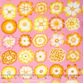 Kaffe Collective - Pastel Button Flowers Pink Yardage