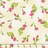 Paradise - Floral Buds Cream Yardage