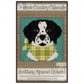 Brittany Spaniel Black Precut Fused Appliqué Pack