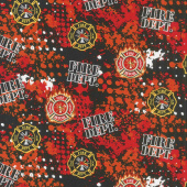 Fire Fighter - Patches Multi Yardage