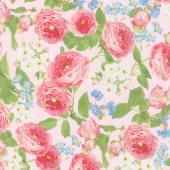 Farmhouse Rose - Flowers Pink Yardage