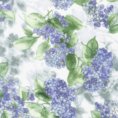 Watercolor Hydrangeas - Hydrangeas Lavender Yardage