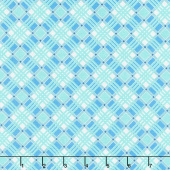 Flea Market - Plaid Blue Yardage