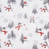 Snowy Wishes - Scenic Gray Yardage