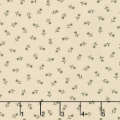 Flower Garden Gatherings Backgrounds - Fancy Tulip Pie Crust Yardage