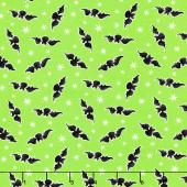 Here We Glow - Tossed Bats Green Glow in the Dark Yardage