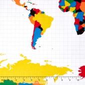 Our World - World Main White Yardage