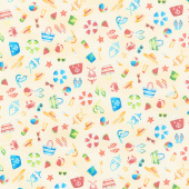 Beside the Sea - Icon Scatter Yellow Yardage