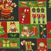 Jolly Ole' St. Nick - Toy Patch Multi Yardage