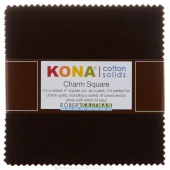 Kona Cotton Solids - Black Charm Pack