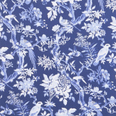 Blue Byrd - Blue Aviary Navy Yardage