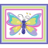Flutter the Butterfly - Butterfly Play Mat Lilac Panel