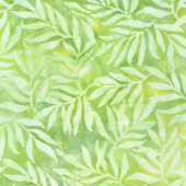 Artisan Batiks - Color Source 8 - Slender Leaves Wasabi Yardage