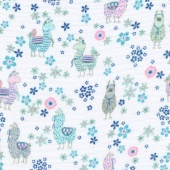 Embrace - Double Gauze Prints La-La-Llama Embrace Blush Yardage