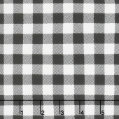 Flannel Gnomies - Plaid Black and White Yardage