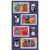 Feline Frolic - Purple Metallic Place Mat Panel