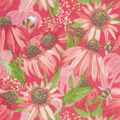 Painted Meadow - Coneflower Passion Yardage