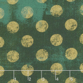 Grunge Hits the Spot - Christmas Green Metallic Yardage