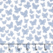 Lilla - Minna Grey Blue Yardage