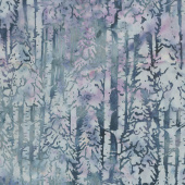 Snowberry Batiks - Snow Trees Shark Yardage