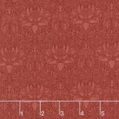 "Morris Garden - Crown Imperical 1888 Crimson 108"" Wide Backing"