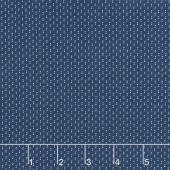 Blue Byrd - Double Dot Navy Yardage